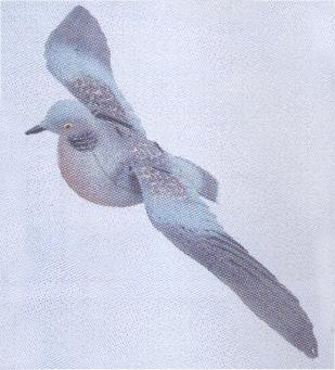 Turtle Dove Flying - DEC-TURDO-02